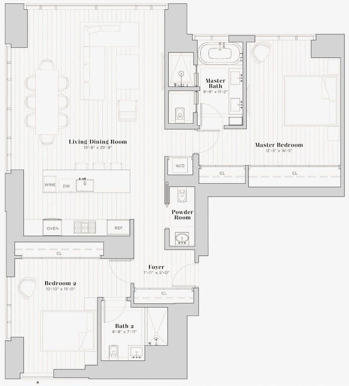 5 Beekman Street 42A, Financial District, NYC, $3,395,000, Web #: 19606350