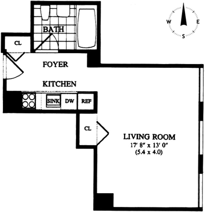 250 East 54th Street 18E, Midtown East, NYC, $610,000, Web #: 19607884