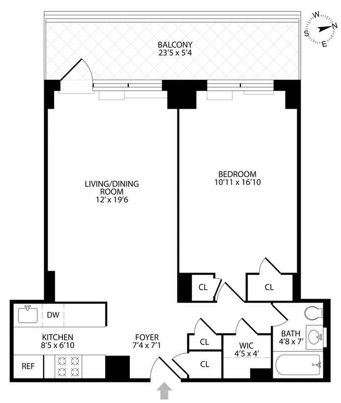 300 East 71st Street 6K, Upper East Side, NYC, $738,500, Web #: 19609652