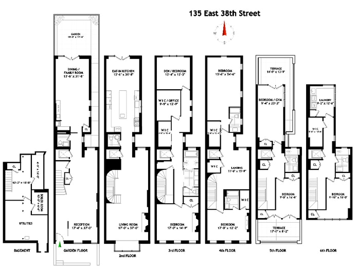 135 East 38th Street, Townhouse, Midtown East, NYC, $24,000, Web #: 19616712