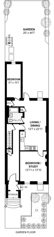 185 Macdonough Street Garden, Brooklyn, New York, $2,950, Web #: 19621424