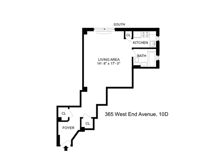 365 West End Avenue 10D, Upper West Side, NYC, $2,700, Web #: 19639142