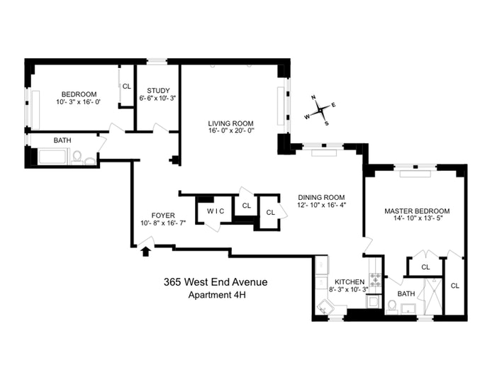 365 West End Avenue 4H, Upper West Side, NYC, $7,839, Web #: 19639310