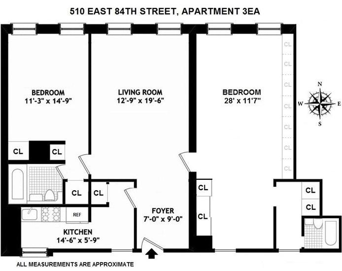 510 East 84th Street 3Ea, Upper East Side, NYC, $750,000, Web #: 19652879