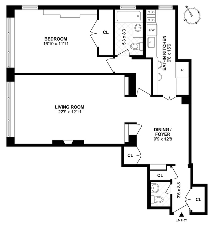 45 Sutton Place South 11O, Midtown East, NYC, $800,000, Web #: 19652950