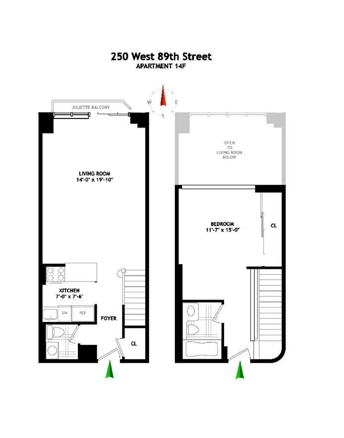 250 West 89th Street 14F, Upper West Side, NYC, $1,075,000, Web #: 19653567