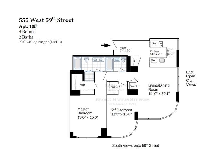 555 West  59th Street 18F, Midtown West, NYC, $0, Web #: 19668623