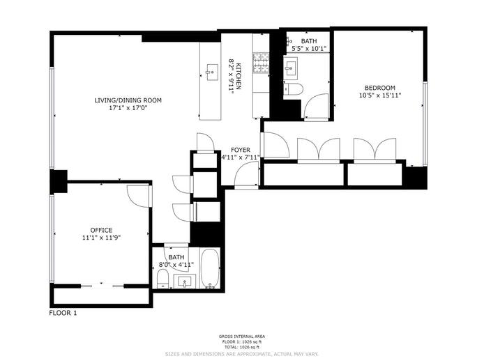 385 First Avenue 15A, Flatiron/Gramercy Park, NYC, $5,700, Web #: 19693182