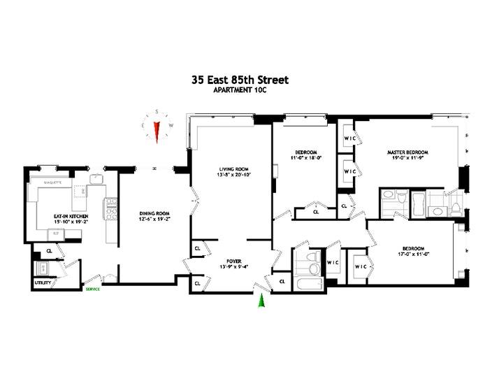 35 East 85th Street 10C, Upper East Side, NYC, $14,900, Web #: 19709964