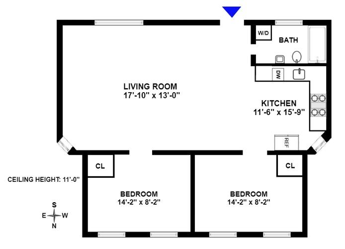 519 East 11th Street 1A, East Village, NYC, $650,000, Web #: 19727113
