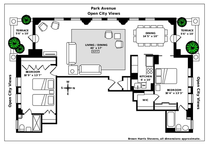 465 Park Avenue 26A, Midtown East, NYC, $1,995,000, Web #: 19735121