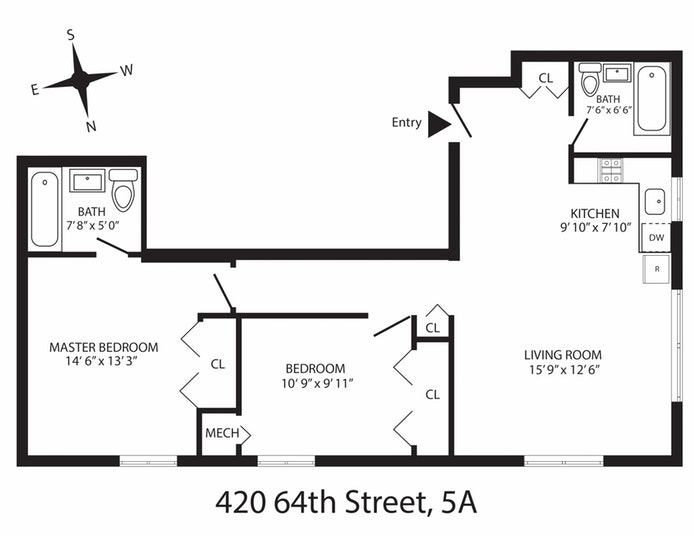420 64th Street 5A, Brooklyn, New York, $543,000, Web #: 19741809