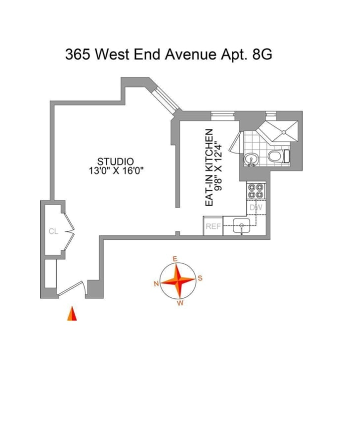 365 West End Avenue 8G, Upper West Side, NYC, $2,500, Web #: 19756442
