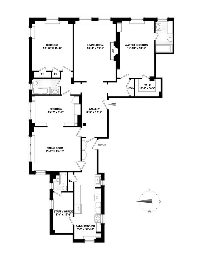 129 East 69th Street 7C, Upper East Side, NYC, $2,900,000, Web #: 19785697
