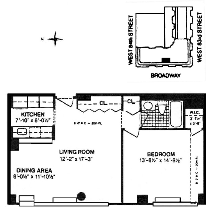 225 West 83rd Street 20I, Upper West Side, NYC, $4,000, Web #: 19787698