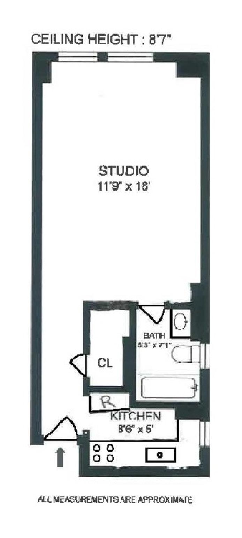235 West 102nd Street 9T, Upper West Side, NYC, $1,950, Web #: 19790239