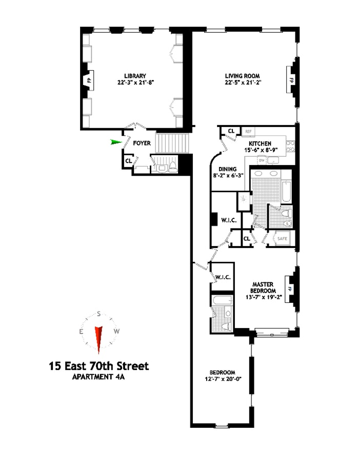 15 East 70th Street 4A, Upper East Side, NYC, $25,000, Web #: 19805543
