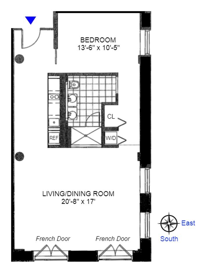 16 West 19th Street 4D, Greenwich Village/Chelsea, NYC, $1,199,000, Web #: 19806900