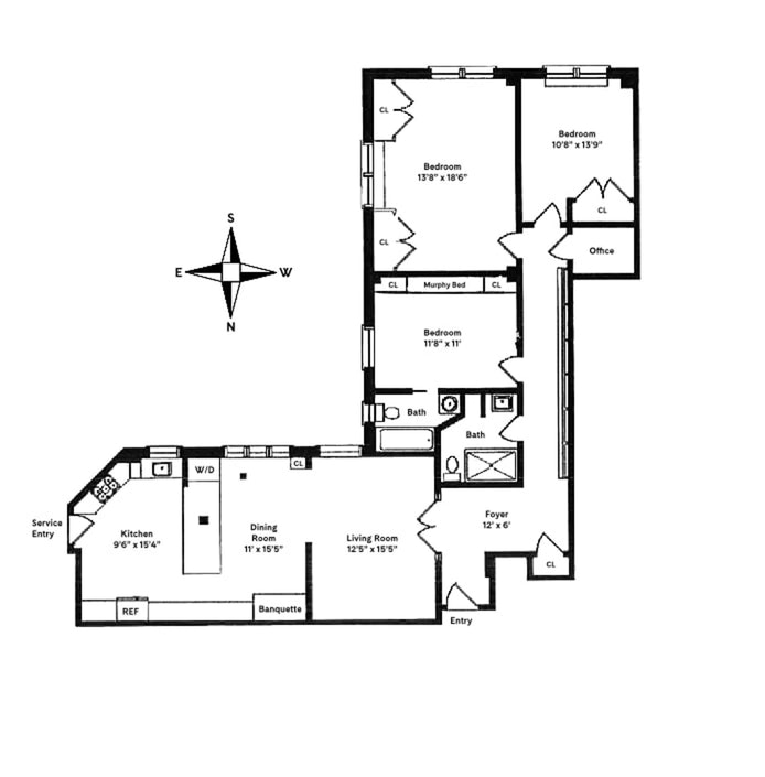 333 Central Park West 115, Upper West Side, NYC, $2,750,000, Web #: 19833613