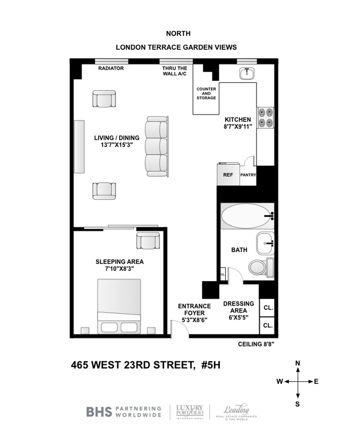 465 West 23rd Street 5H, Chelsea, NYC, $625,000, Web #: 19846148