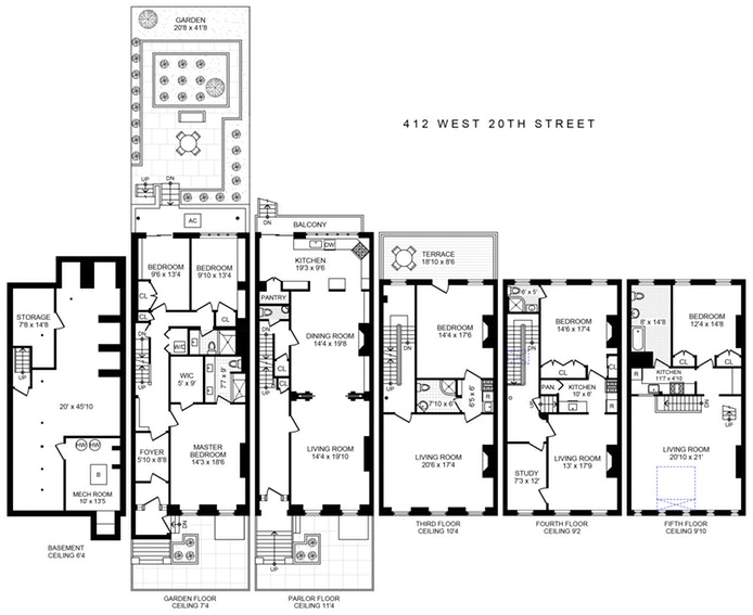 412 West 20th Street, Chelsea, NYC, $8,395,000, Web #: 19848798