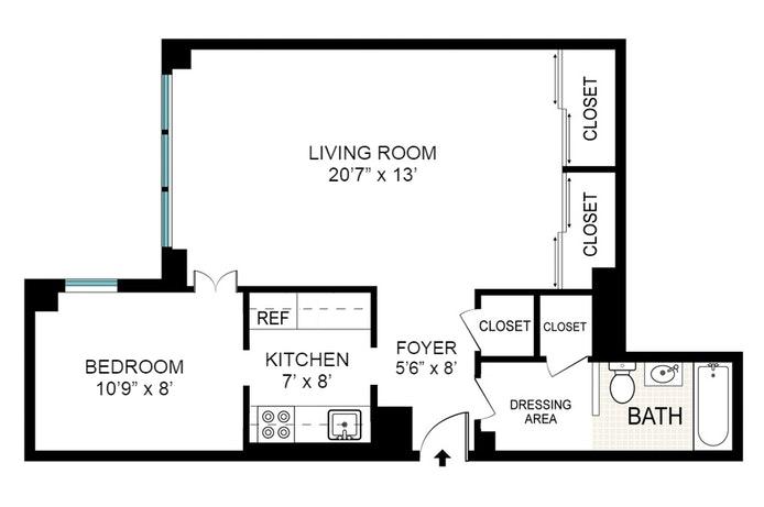 1 Gracie Terrace 8J, Upper East Side, NYC, $475,000, Web #: 19851145