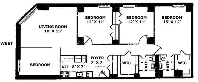 1623 Third Avenue 6A/W, Upper East Side, NYC, $5,995, Web #: 19851195