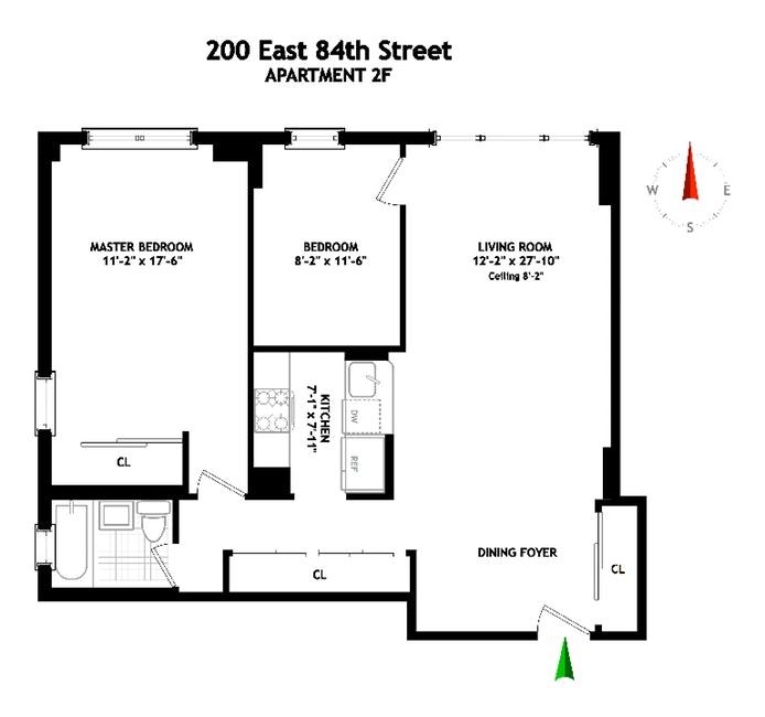 200 East 84th Street 2F, Upper East Side, NYC, $895,000, Web #: 19853184