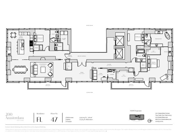 200 Amsterdam Avenue 47, Upper West Side, NYC, $17,500,000, Web #: 19858008