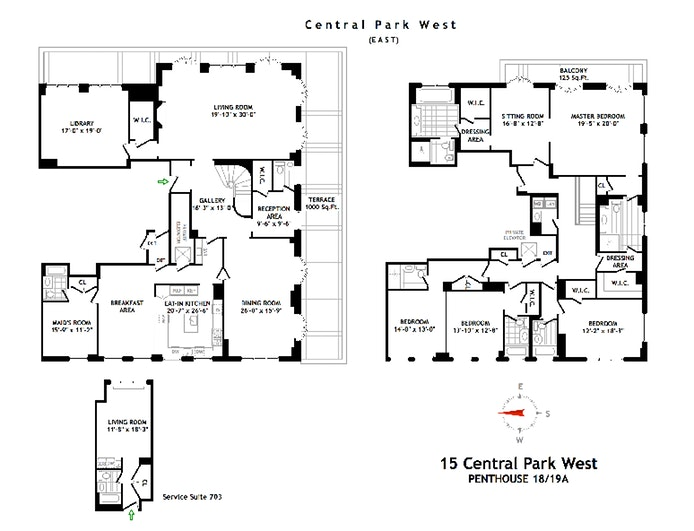 15 Central Park West Ph18/19A, Upper West Side, NYC, $57,900,000, Web #: 19861806