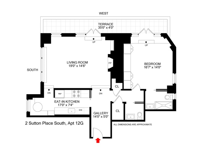 2 Sutton Place South 12G, Midtown East, NYC, $1,125,000, Web #: 19865523