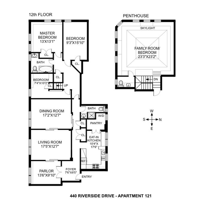 440 Riverside Dr 121, Harlem, NYC, $3,850,000, Web #: 19869209