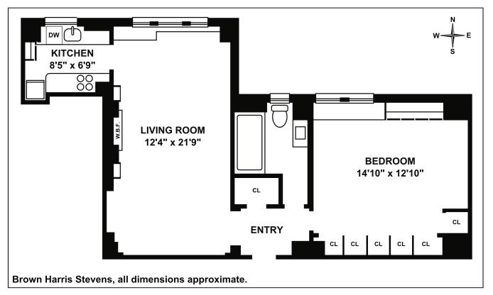 315 East 68th Street 11Q, Upper East Side, NYC, $799,000, Web #: 19870287