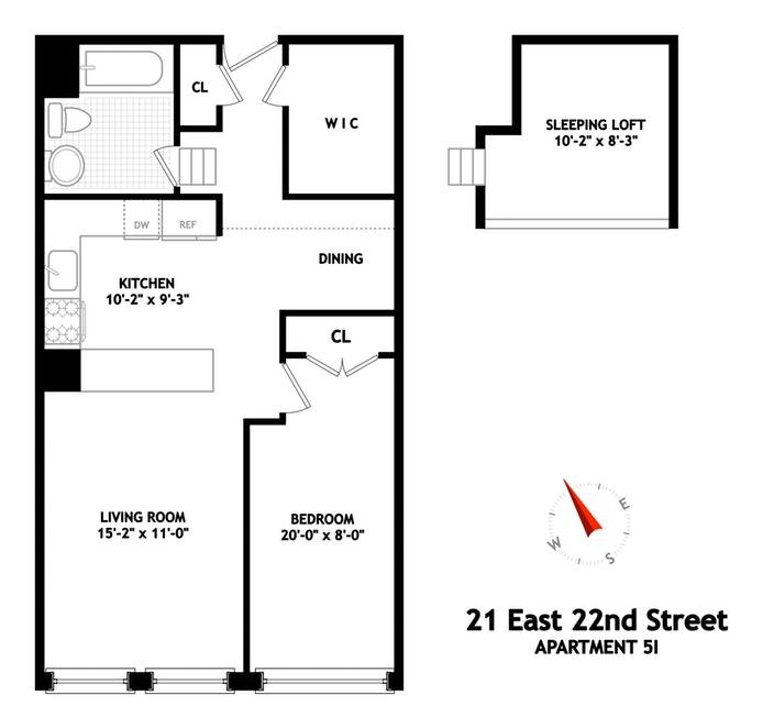 21 East 22nd Street 5I, Flatiron/Gramercy Park, NYC, $1,128,000, Web #: 19872444