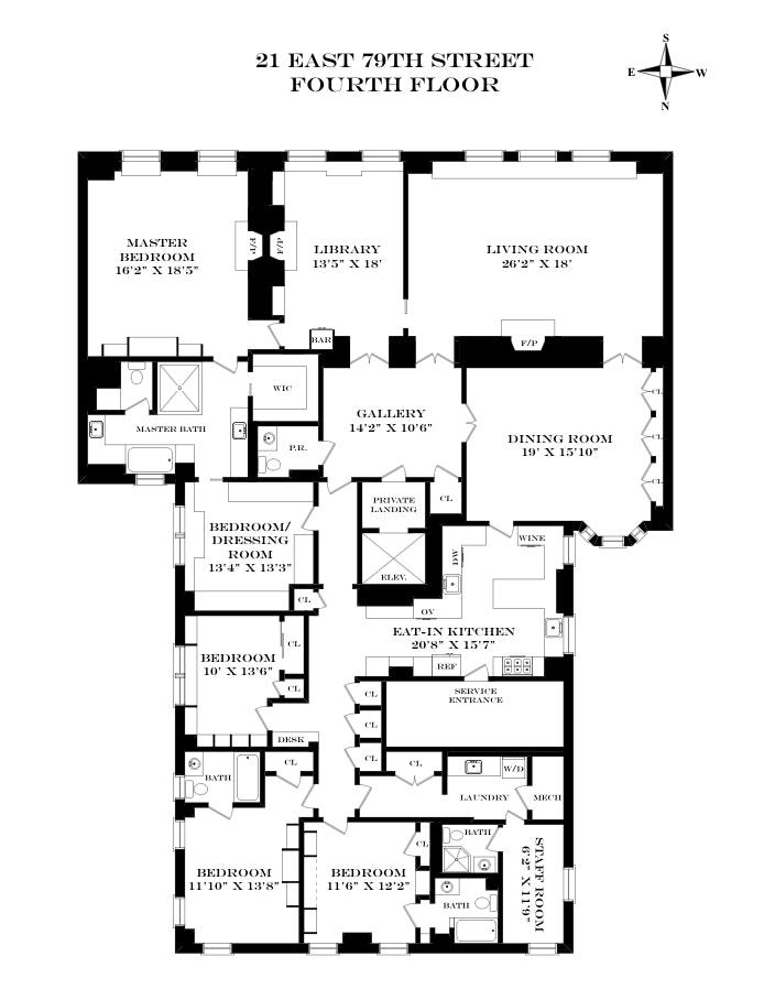 21 East 79th Street 4thfloor, Upper East Side, NYC, $10,000,000, Web #: 19874810