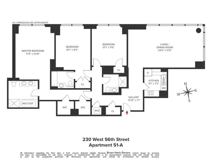 230 West 56th Street 51A, Midtown West, NYC, $10,495, Web #: 19882547