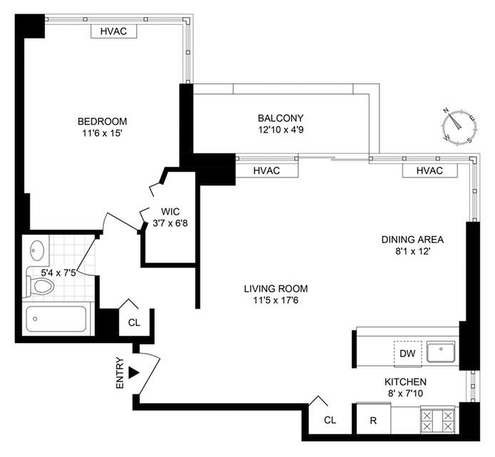 300 East 62nd Street 1504, Upper East Side, NYC, $900,000, Web #: 19891284