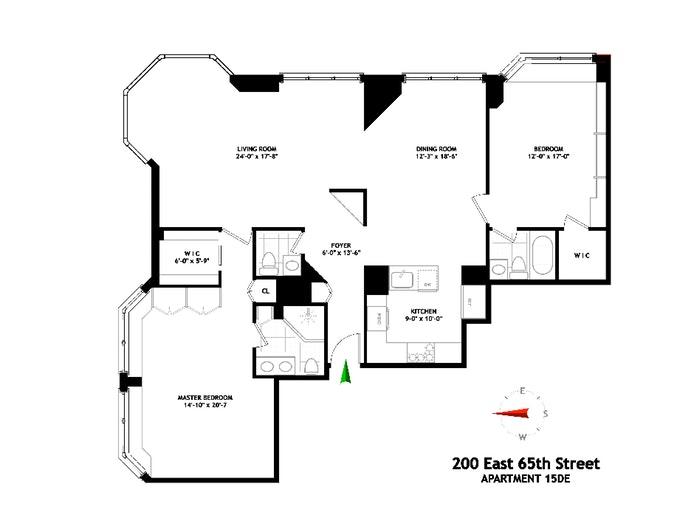 200 East 65th Street 15De, Upper East Side, NYC, $2,500,000, Web #: 19891442