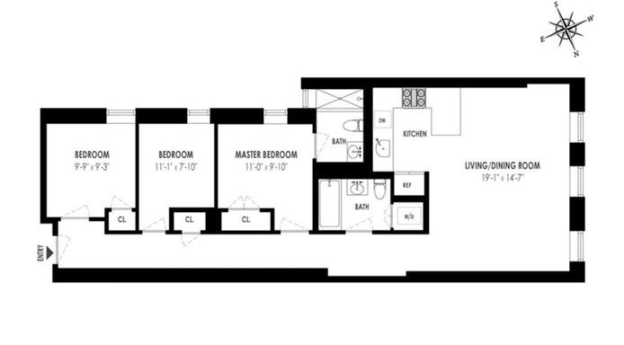 159 West 118th Street 4H, Central Harlem, NYC, $1,025,000, Web #: 19894047