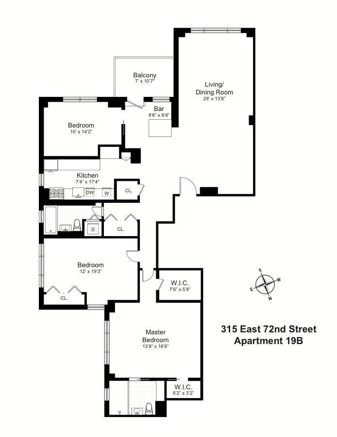 315 East 72nd Street 19B, Upper East Side, NYC, $2,200,000, Web #: 19896869