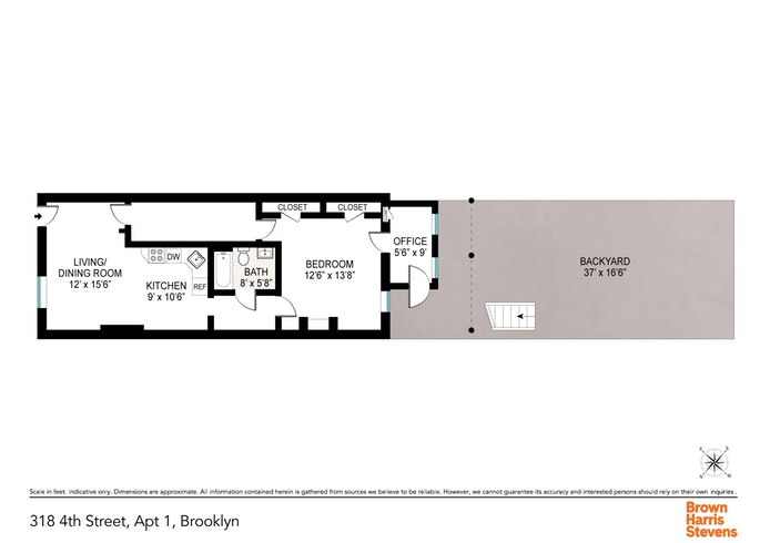 318A 4th Street 1, Brooklyn, New York, $2,300, Web #: 19901765