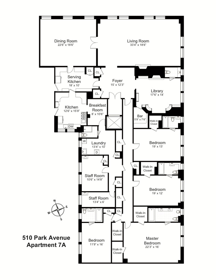 510 Park Avenue 7A, Upper East Side, NYC, $5,200,000, Web #: 19905295