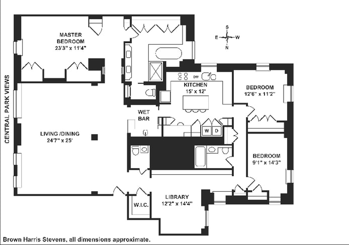 257 Central Park West 8A, Upper West Side, NYC, $6,600,000, Web #: 19907386