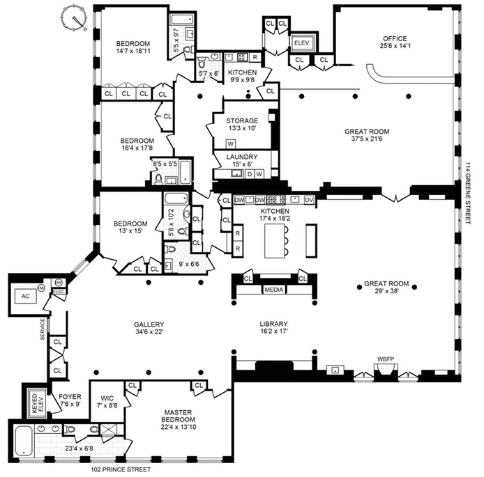 102 Prince Street, Soho, NYC, $19,000,000, Web #: 19910672
