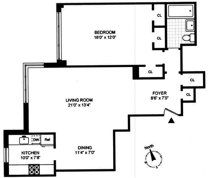 175 East 74th Street 14F, Upper East Side, NYC, $730,000, Web #: 19913340