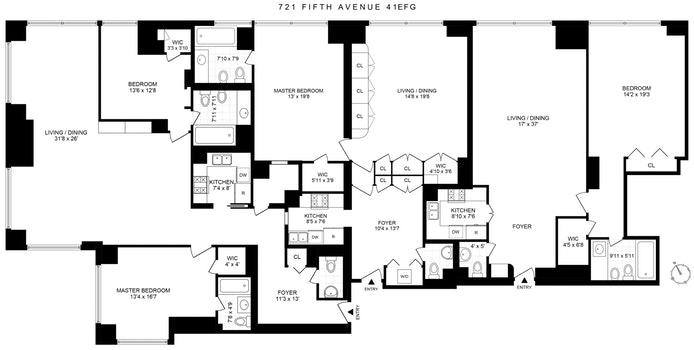 721 Fifth Avenue 41E/F/G, Midtown East, NYC, $7,500,000, Web #: 19917733