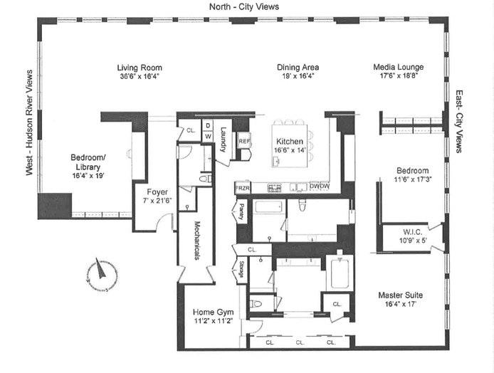 145 Hudson Street 14B, Tribeca, NYC, $11,800,000, Web #: 19921588