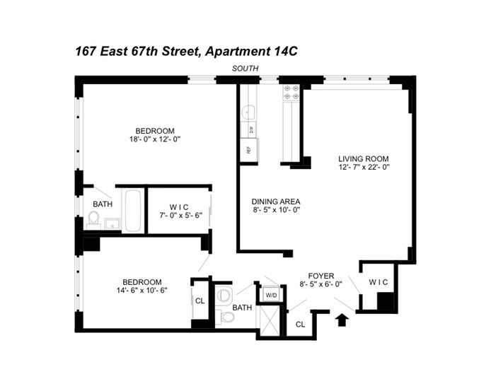 167 East 67th Street 14C, Upper East Side, NYC, $1,415,000, Web #: 19924962