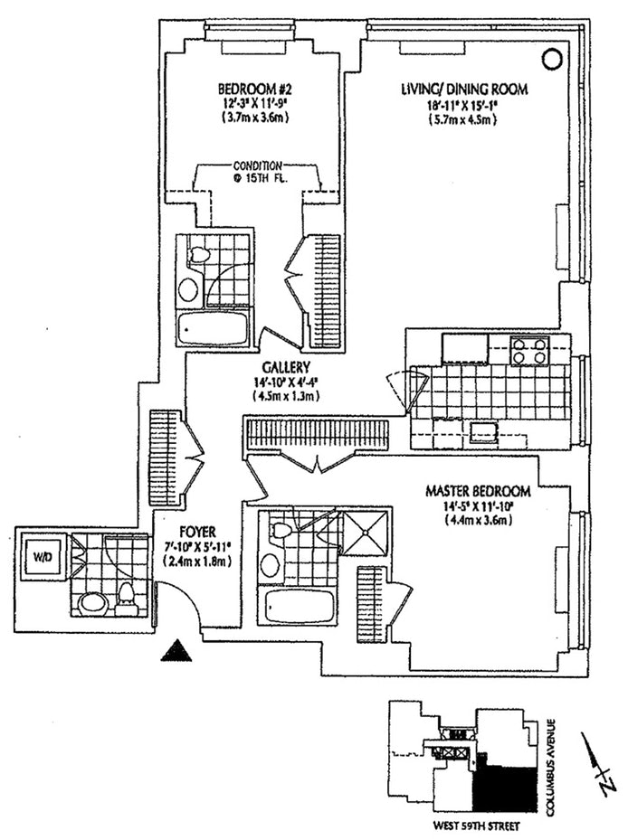 2 Columbus Avenue 6D, Upper West Side, NYC, $6,000, Web #: 19926450