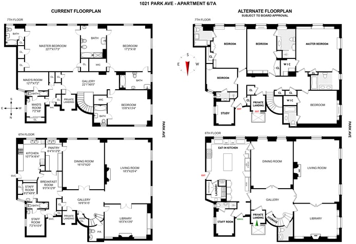 1021 Park Avenue 6/7A, Upper East Side, NYC, $11,500,000, Web #: 19935125